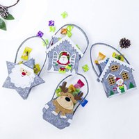 Wholesale felt christmas gift bags resale online - Christmas Candy Gift Holder Treat Bag Portable Felt Xmas Holiday Party Year Wedding Supplies Decorations SZ