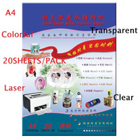 Wholesale transparent a4 for sale - Group buy Sheets A4 Laser Printer Water Slide Decal Paper Sheets Transparent Clear sheets pack