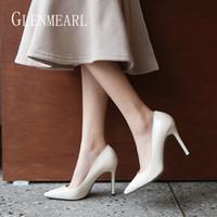 женская обувь офисная оптовых-Women Pumps High Heels  Summer Female Shoes Women Wedding Shoes Colorful Thin Heels Office Pumps Plus Size 2019 DE