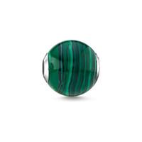 cuentas sueltas de bambú al por mayor-Cuentas de piedra verde Plata Accesorios de joyería de moda Pulseras aptas Collares Cadena 2018 Nuevo