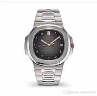 reloj de banda transparente al por mayor-Relojes de lujo 41MM Movimiento automático Relojes para hombre Relojes de pulsera para hombres de alto grado Dial ovalado Banda de acero inoxidable Transparente Volver