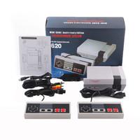 yeni taşınabilir video oyunları toptan satış-Yeni Varış Mini TV saklayabilirsiniz 620 500 Oyun Konsolu Video El NES oyunları konsolları için perakende kutuları ile dhl