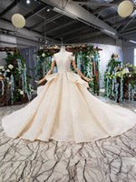 Wholesale new autumn sweetheart wedding dresses for sale - Group buy 2019 Summer Lebanon Wedding Dresses Off the Shoulder Short Sleeve Backless Lace Up Back Cascading Ruffles Sweetheart Neck Bridal Gowns New