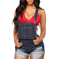 xl denim shorts em geral venda por atacado-OEAK Bolso Lápis Calça Jeans Casual Calças de Cintura Alta Calças de Denim das Mulheres Preto Azul Geral Curto vaqueros mujer