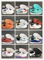 zapatillas de colores al por mayor-1 07 Lv8 Utilidad Volt los zapatos corrientes de arco iris de colores fluorescentes de luz blanca para la alta calidad 22 colores Hombres Mujeres Deportes zapatillas TAMAÑO 36-45