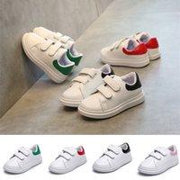 erkek kızlar gündelik beyaz ayakkabılar toptan satış-Yeni casual çocuk ayakkabı 4 renkler çocuk moda sneakers erkek kız beyaz spor ayakkabı bebek yürüyor ayakkabı tasarımcı ayakkabı EJY459