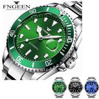 часы наручные оптовых-Механические часы мужские водонепроницаемые автоматические часы мужские часы с календарем даты Relojes Automaticos Para Hombre Fngeen J190615