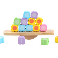Wholesale number block toy for sale - Group buy Multi functional bead balanced building blocks Toy Wooden Beads Multicolor Safe Decor Practice number early education toys
