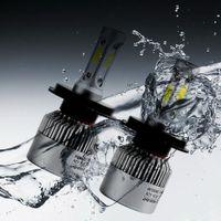 led-scheinwerfer h13 großhandel-H4 LED H7 H11 H8 9005 HB3 9006 HB4 H13 9004 9007 COB S2 Selbstautoscheinwerfer 72W 8000LM 6500K