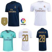 maillot jersey fußball großhandel-Real Madrid Trikots 2019 2020 HAZARD Isco Fußball Trikot SERGIO RAMOS MODRIC BALE Fußball Trikot Uniformen Kit 19 20 T-Shirts Fuß-Trikot