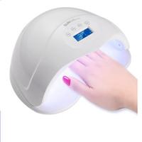 heilendes licht für nagelgel großhandel-48 Watt Nagel Trockner Dual UV LED Nagel Lampe Gelpoliermittel Aushärtung Licht Mit Bottom Timer LCD Display Lampe Nagelkunstwerkzeuge RRA880