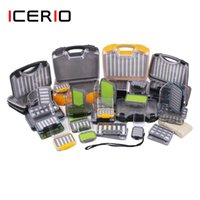 ICERIO Tackle Box Waterproof Double Side Bait Lure Flies Nymph Hooks Storage Boxes Carp Fly Fishing Accessories