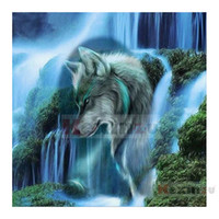 Wholesale decor full resale online - Full Square Round D DIY Diamond Painting quot Animal Wolf quot D Embroidery Cross Stitch Mosaic Home Decor Gift