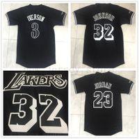 Wholesale johnson black jerseys resale online - Embroidery Mens Basketball Black Sleeve Johnson Jersey Top Quality Stitched Allen Iverson Black Short Sleeve Mens Jerseys