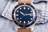 les plongeurs regardent le cuir achat en gros de-3 style Montres de luxe Montres Divers Sixty Five ETA28224 automatique Mens Watch 01 733 7220 21 02 4057-07 5 cadran vert bracelet en cuir brun