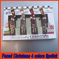 Wholesale butter cookies for sale - Group buy Faced The Sweet Smell of Christmas Treats Liquified Lipstick Set Pimpkin Spice Sugar Cookie Cinnaman Bear Hot Buttered