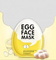 mascarilla iluminadora al por mayor-Huevo máscaras faciales del control del aceite aclaran Mascarilla Hidratante envuelta Tender Mascarilla Cuidado de la piel que hidrata la máscara Herramienta RRA1686