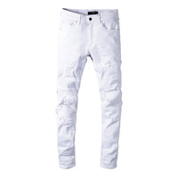 en pies tiros de ventas calientes la mejor calidad para Distribuidores de descuento Jeans Rotos Blancos Para Mujeres ...