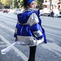 gesteppte kurze jacke frauen großhandel-Wintermantel Frauen Baumwolle Winterjacke Frauen Korean Slim Plus Size Dicker Reißverschluss Mit Kapuze Steppjacke Kurze Weibliche Mäntel H226