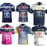 vaquero australia al por mayor-S-5XL North Queensland Cowboys Jersey de Rugby North Queensland Cowboys camisa INDÍGENA Jersey 2020 hombres de Australia NRL Telstra