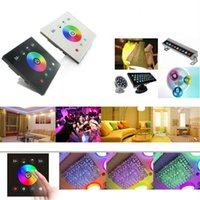 Wholesale led strip switch touch resale online - DC12V V wall mounted Touch Panel Controller glass panel RGB RGBW single color dimmer switch Controller for LED RGB Strips lamp