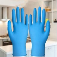 Wholesale wear gloves resale online - Elastic Disposable Gloves Environmental Protection Work Protective Blue Gloves Household Cleaning Wear Resistant Dust proof Glove YP327