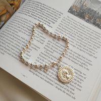 münzen armbänder frauen großhandel-925 sterling silber 8,5g münze perlenkette armbänder qualität reines 925 silber wild design armbänder für frauen edlen schmuck geschenk