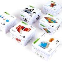 ingrosso tin wood boxes-6 Stili Scatola di latta Gioco Varietà di legno Puzzle Bambini Giocattoli di legno per bambini Puzzle Bambini Giocattoli educativi per l'apprendimento precoce