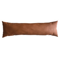 Excellent New Thick Faux Leather Lumbar Pillow Cover Tan Decorative For Couch Throw Pillow Case Brown Leather Cushion Cover Solid Color Machost Co Dining Chair Design Ideas Machostcouk