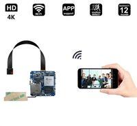 verstecke wifi kamera großhandel-4K Wireless versteckte Kamera WIFI DIY Spion Lochkamera Überwachungskamera mit Bewegungsmelder