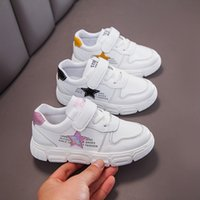 Wholesale shoes student boys resale online - Children Sneaker Casual Sports Shoes Boys Kids Girls Student Running Shoes Anti Slip Fashion Autumn Damping SSJ022
