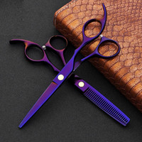 Wholesale titanium scissors for sale - Group buy 2pcs Japan c Hair Scissors for Hairdressers Barber Shop Supplies Titanium Professional Hairdressing Scissors for Cutting Hair