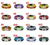 Wholesale Football Jersey bracelet Rugby Bracelet 32Models Cowboys Paracord luxury designer jewelry women bracelets Free Shipping DHL A0208