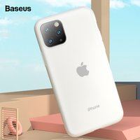 baseus iphone groihandel-Baseus Phone Case für iPhone XI Pro Max Luxus Soft Liquid Silikon Rückseite für iPhone 11 XIR Max 2019 Fall Coque Fundas Capa