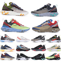 Wholesale black shoe for sale - Group buy Cheap React Element Undercover Running Shoes Sail Light Bone Blue Chill Solar Anthracite Black Designer Sports Sneakers Without box