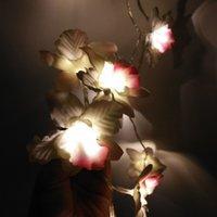 decoração da parede da orquídea venda por atacado-Criativa String Luz LED Decoração de Natal Wedding Luz Orchid Rose fio grade Photo Wall Clipe Cadeia Home Decor