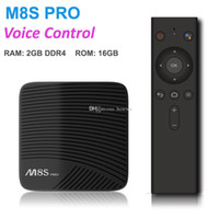 Wholesale m8s tv boxes for sale - Group buy Mecool M8S PRO ATV Google Voice Control Smart Android TV Box GB DDR4 GB Amlogic S912 Octa Core G G Smart Box