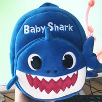 Wholesale baby door gift for sale - Cartoon Baby Shark Storage Bags Under Two Years Old Plush Schoolbag Children s Day Gifts Toys Boys Girls Backpack19bd A1