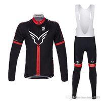 bisiklet takım giysileri uzun toptan satış-Maillot Ropa Ciclismo pro team Bisiklet Forması / Nefes bisiklet elbise / MTB bisiklet Uzun Kollu Bisiklet Giyim / jel ped Önlüğü Pantolon seti
