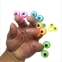 Wholesale eyes puppet for sale - Group buy Kids Novelty Toys Eye Finger Puppets Plastic Rings With Wiggle Eyes Hotsale Party Finger Toy Creative Cartoon Eye Puppet Cosplay Props B5828