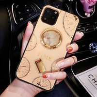 Wholesale apple ring box resale online - Magnetic Ring Bracket Phone Case For iPhone Pro Max XS MAX XR X Plus Diamond Bling With Retail Box