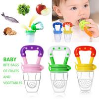 brustwarzen für baby groihandel-Silikon Baby Schnuller Obst Gemüse Spaß Biss Gags Beißring Schnuller Brustwarzen Geschenk Babypflegeprodukte Artikel