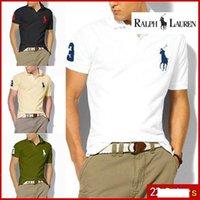 tasarlanmış polo gömlekler toptan satış-Erkekler Için 2019 t-shirt Tasarımcı POLO Ralph Amerikan marka tasarım erkek pamuk çift toka polo gömlek moda avant-garde fabrika doğrudan