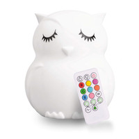 Wholesale nightlights for babies online - LED Nursery Night Lights for Kids Cute Animal Silicone Baby with Touch Sensor Portable Rechargeable Color Changing Bright Nightlight Lamp
