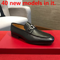 Wholesale best quality loafers men resale online - 40ss New Arrival Italian Best Quality Men High Top Shoes Mens Wedding Shoes Men Leather Shoes Grey Men s Size With Box