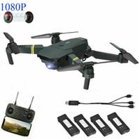 dronlar için kameralar toptan satış-Drone X Pro 1080P HD Kamera ile Katlanabilir Quadcopter WIFI FPV + 3 Ekstra Piller