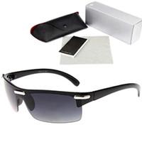 gafas de sol de moda polarizadas al por mayor-Al por mayor-semi-sin montura gafas de sol para hombre del abrigo alrededor de la bici del camino de sol polarizadas Vogue Eyewear masculino de moda de lujo de Hip Hop de las lentes 1065