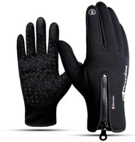 Wholesale women s fashion mittens for sale - Group buy fashion Touch screen glove cold proof men women Sports Gloves fleece thickened Winter outdoor riding warm waterproof Training yakuda fitness