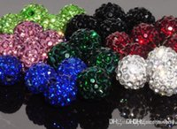 Wholesale disco flower bracelet for sale - Group buy v23422 mm can choose color mix Micro Pave CZ Disco Crystal crystal Bead Bracelet Necklace Beads good w62