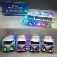 luzes led de ônibus venda por atacado-WS-267BT Kombis Led Cristal Bus Bluetooth Speaker com alto-falante portátil LED MP3 Player coloful levou unidade luz / FM / TF / USB / AUX na DHL TNT